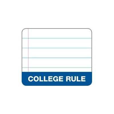 """Tops Business Forms Wireless Notebook, 1-Subject, College Rld, 3 Hole Punch, 100 Sheets, 11""""x9"""", White"""