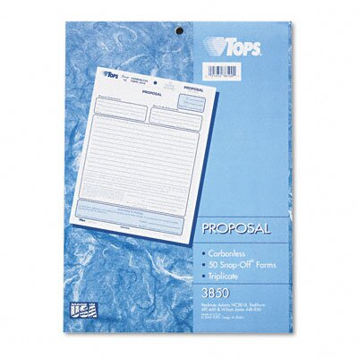 Tops Business Forms Proposal Form, Three-Part Carbonless, 50 Forms