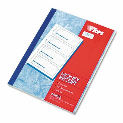 Tops Business Forms Money and Rent Receipt Books, 200 Sets/Book