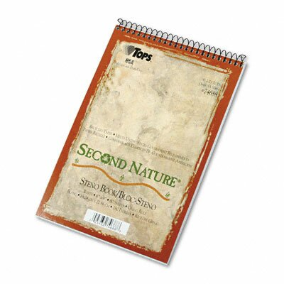 Tops Business Forms Second Nature Spiral Reporter / Steno Notebook, 80-Sheet