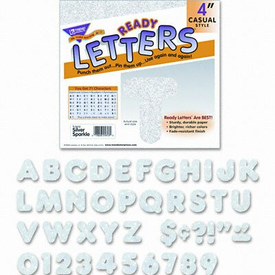 Trend Enterprises Ready Letters Sparkles Letters and Numbers