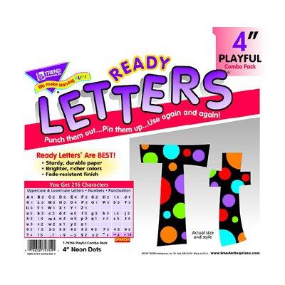 Trend Enterprises Neon Dots Ready Letter