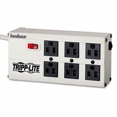 Tripp Lite Isobar Surge Suppressor, 6 Outlets, 6 ft Cord