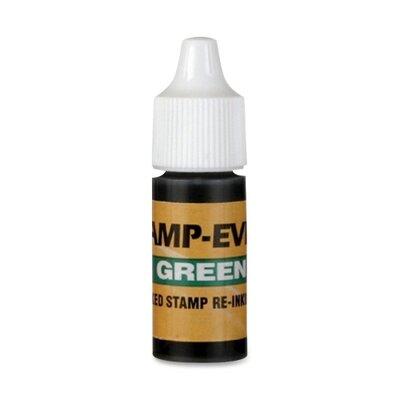 U.S. Stamp & Sign Refill Ink, 7 ml, Plastic Bottle, Green