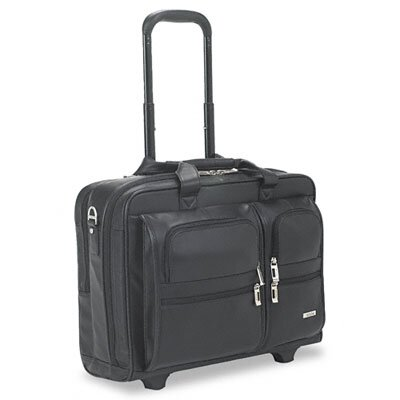 UNITED STATES LUGGAGE Solo Rolling Leather Laptop Case