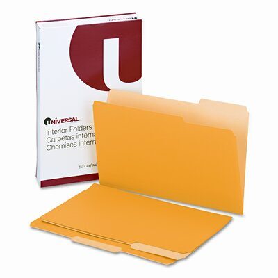 Universal® Recycled Interior File Folders, 100/Box