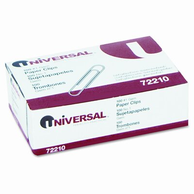 Universal® Paper Clips, 100/Box