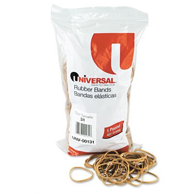 Universal® Rubber Bands, 980 Bands/1 lb Pack