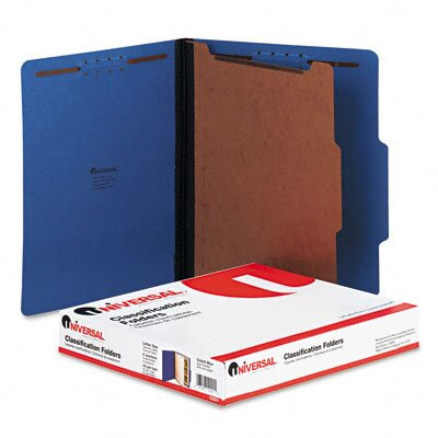 Universal® Pressboard Classification Folder, 10/Box