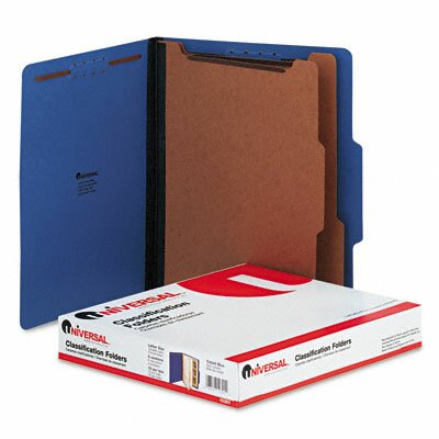 Universal® Pressboard Classification Folders, Letter, Six-Section, 10/Box
