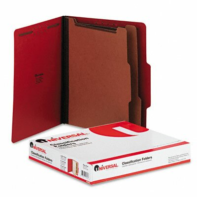 Universal® Universal Pressboard Classification Folders, 10/Box