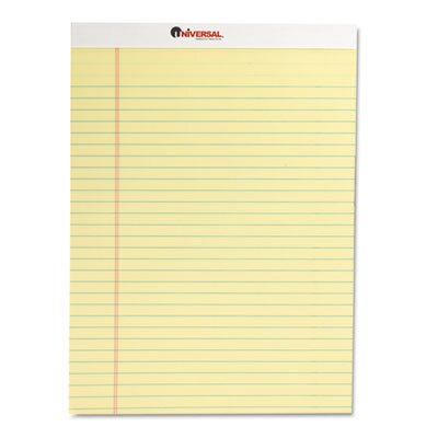 Universal® Perforated Edge Writing Pad, Legal/Margin Rule, 50 Sheets, 12-Pack