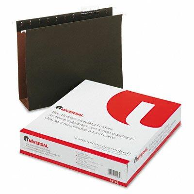 Universal® Three Inch Box Bottom Pressboard Hanging Folder, 25/Box