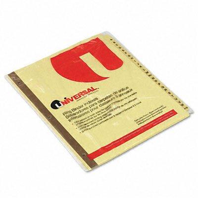 Universal® Preprinted Plastic-Coated Tab Dividers, 25/Set
