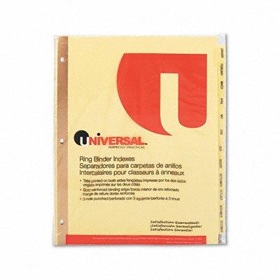 Universal® Preprinted Plastic-Coated Tab Dividers, 12/Set