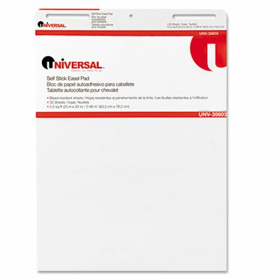 Universal® Self-Stick Easel Pads, 2 30-Sheet Pads/Carton