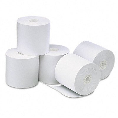 Universal® Single-Ply Thermal Paper Rolls, 50/Carton