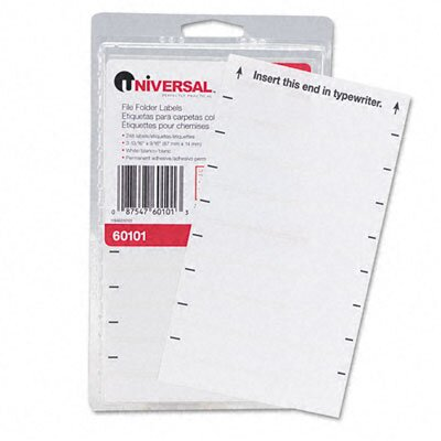 Universal® File Folder Labels For Typewriters, 248/Pack