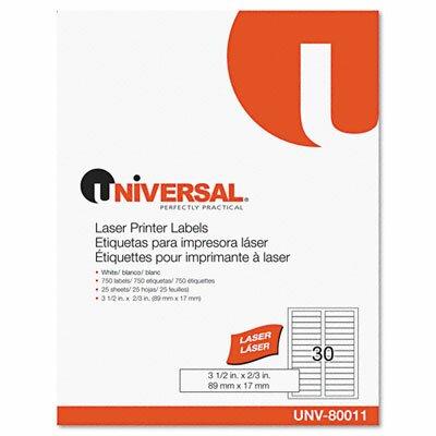 Universal® Laser Printer File Folder Labels, 750/Box