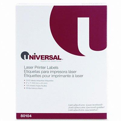 Universal® Laser Printer Permanent Labels, 2000/Box
