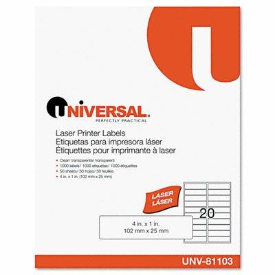 Universal® Laser Printer Permanent Labels, 1000/Box