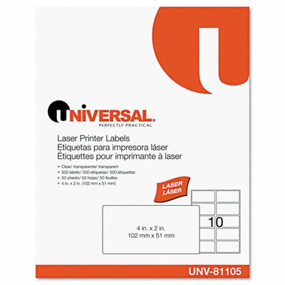 Universal® Laser Printer Permanent Labels, 500/Box
