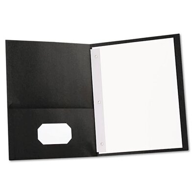 Universal® Two-Pocket Portfolios with Tang Fasteners, 11 X 8-1/2, 25/Box