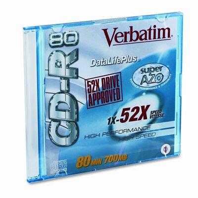 Verbatim Corporation Cd-R Discs, 700Mb/80Min, 52X, 10/Pack