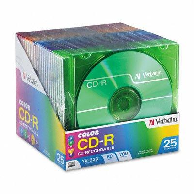 Verbatim Corporation Cd-R Discs, 700Mb/80Min, 52X, 25/Pack