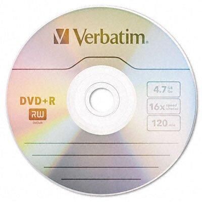 Verbatim Corporation Spindle Dvd+R Discs, 4.7Gb, 16X, 50/Pack