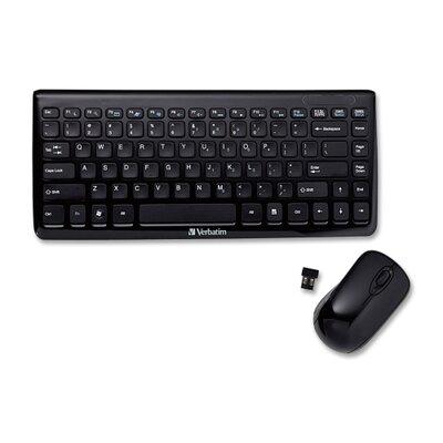 Verbatim Corporation Mini Wireless Slim Keyboard Mouse Combo