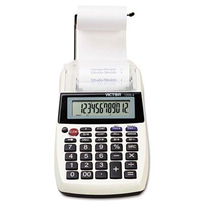 Victor Technology Palm/Desktop Printing Calculator, 12-Digit Lcd
