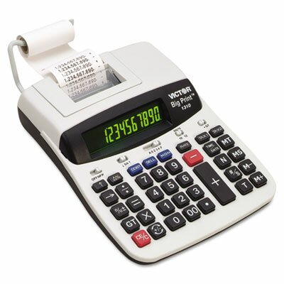 Victor Technology Big Print Commercial Thermal Printing Calculator, 10-12-Digit