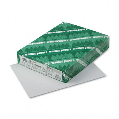 Wausau Papers Exact Vellum Bristol Cover Stock, 67 Lbs., 8-1/2 X 11, 250 Sheets
