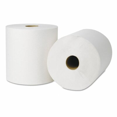 Wausau Papers Seal Hardwound 1-Ply Toilet Paper - 800 Sheets per Roll / 6 Rolls