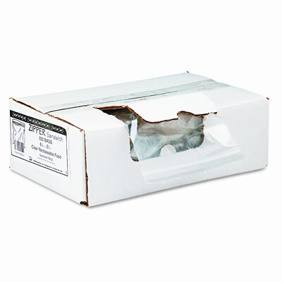 Webster Industries Recloseable Zipper Seal Sandwich Bags, 1.15mil, 6.5 x 5.875, Clear, 500/carton
