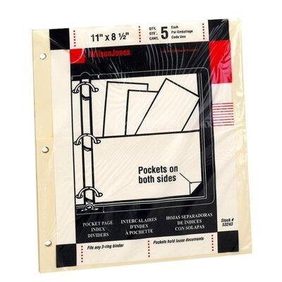 "Wilson Jones Pocket Pages, For Binders, 8-1/2""x11"", Manila, 2013"