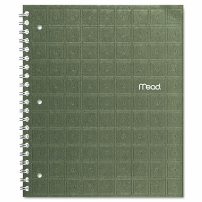Mead Recycled Notebook, 8 1/2 x 11, 80 Sheets, College Ruled, Perforated, Assorted