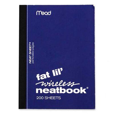 "Mead Neatbook, College Ruled, 200 Sheets, 5-1/2""x4"", Assorted"
