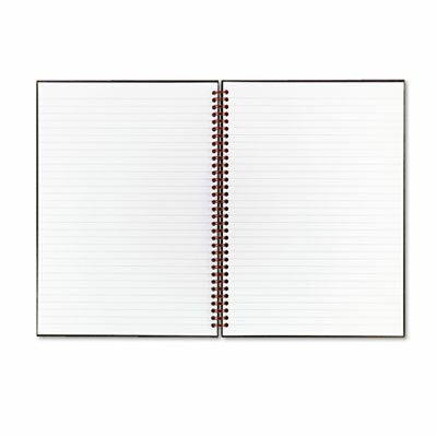 Mead Black N' Red Twinwire Hardcover Notebook, Legal Rule, 8-1/2 X 11, 70 Sheets