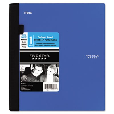 Mead Advance Corner Tab 1-Subject College Ruled Notebook