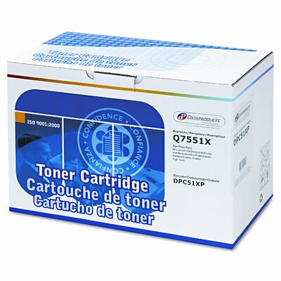 Dataproducts DPC51XP (Q7551X) Remanufactured High-Yield Laser Cartridge, Black