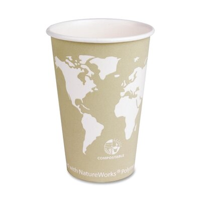 Eco-Products Renewable Resource Hot Drink Cups, 16 oz., 50/PK