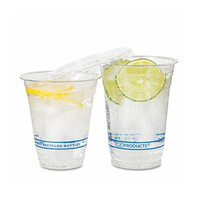 Eco-Products Bluestripe Recycled Content Cold Drink Cups, 9 Oz., 50/Pack