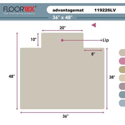 Floortex Cleartex Advantagemat Standard Pile Carpet Chair Mat