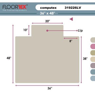 Cleartex Antistatic Standard Pile Carpet Chair Mat by FLOORTEX