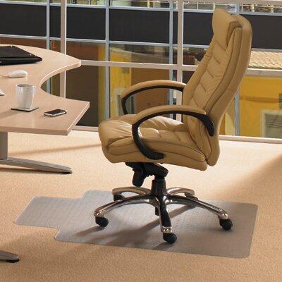 Cleartex Advantagemat Plush Pile Carpet Lipped Edge Chair Mat by FLOORTEX