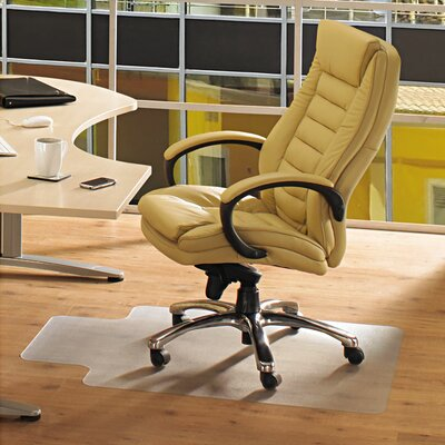 Ecotex 100% Post Consumer Recycled Lipped Shape Chair Mat for Hard Floors by FLOORTEX