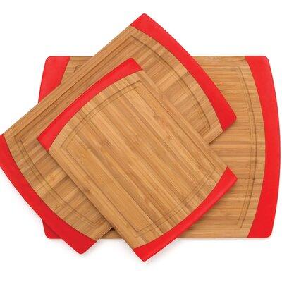 Lipper International Bamboo Non Slip 3 Piece Cutting Board Set