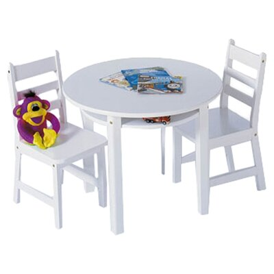 Lipper International Kids' 3 Piece Table & Chair Set I